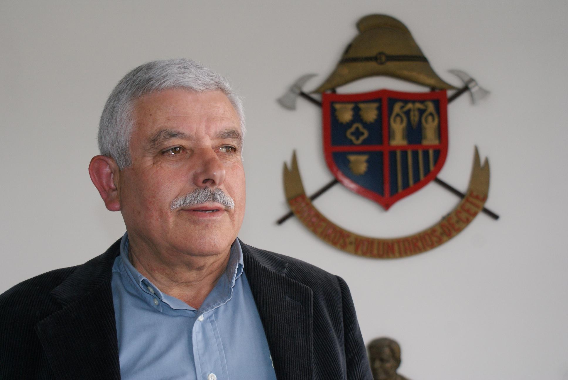Celso Moreira, presidente da direcção dos Bombeiros de Cete