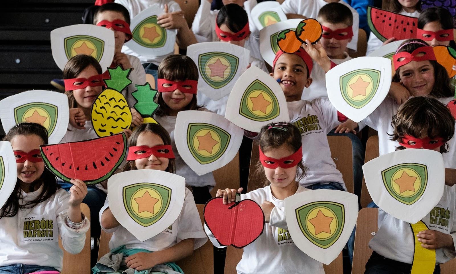 6 escolas do distrito participam no concurso 'Heróis da fruta'